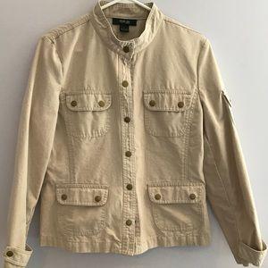 Style and Co. Khaki Utility Jacket